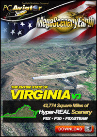 MEGASCENERYEARTH - PC AVIATOR - MEGASCENERY EARTH V3 - VIRGINIA FSX P3D
