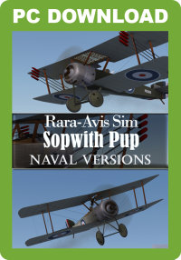 JUSTFLIGHT - RARA-AVIS SIM SOPWITH PUP - NAVAL VERSIONS