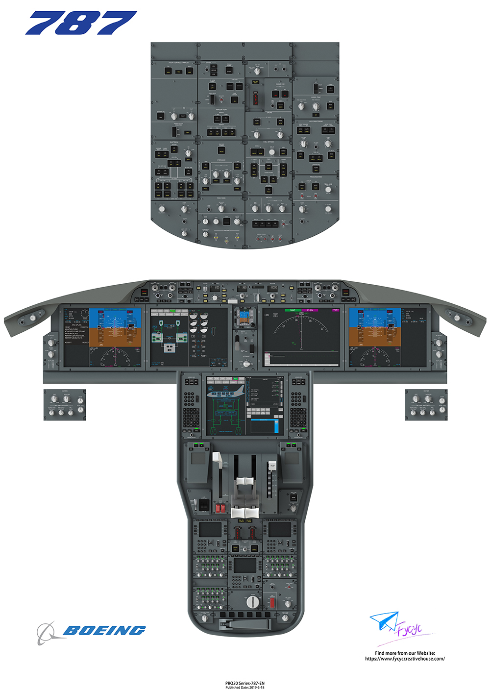 FYCYC - 787-COCKPIT POSTER