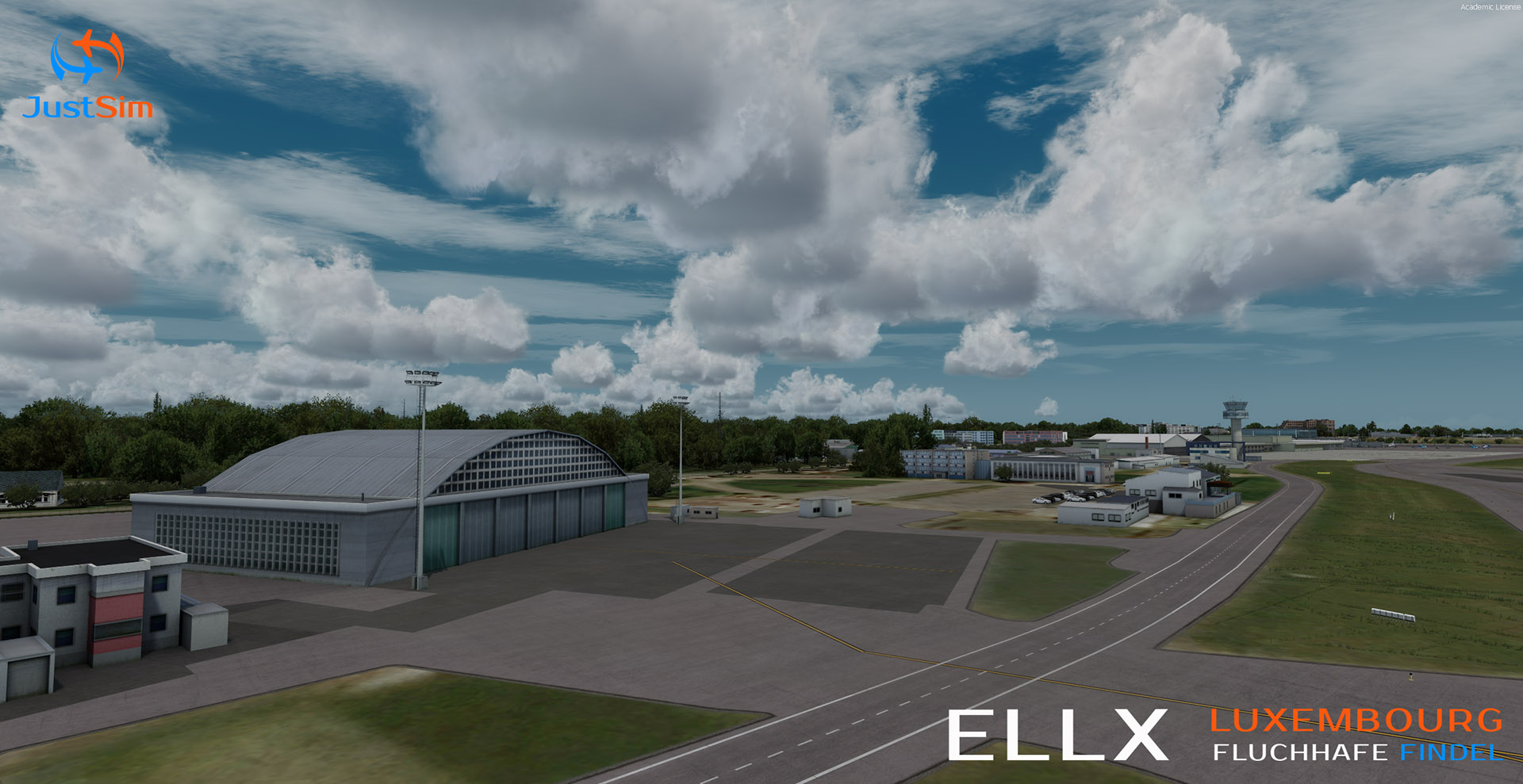 JUSTSIM - LUXEMBOURG FINDEL AIRPORT V2 P3D4