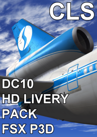 CLS - DC10 HD LIVERY PACK FSX P3D