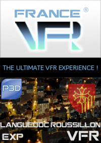 FRANCE VFR - LANGUEDOC-ROUSSILLON VFR EXTENSION PACK P3D V5/V4