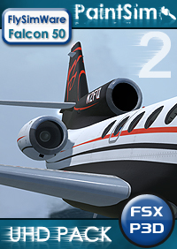 PAINTSIM - UHD TEXTURE PACK 2 FOR FLYSIMWARE FALCON 50 FSX P3D