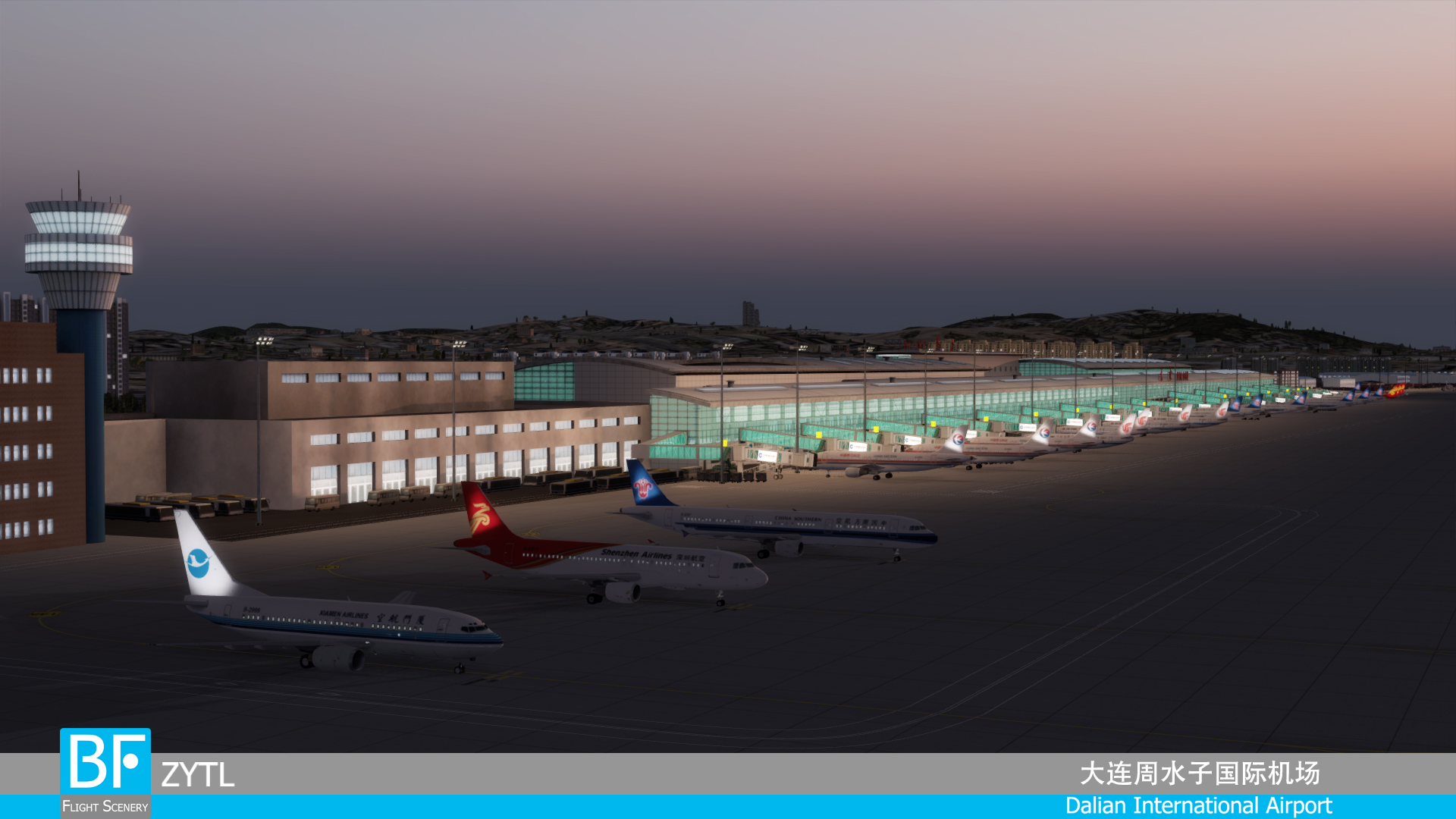 BF FLIGHT SCENERY - DALIAN INTERNATIONAL AIRPORT P3D4