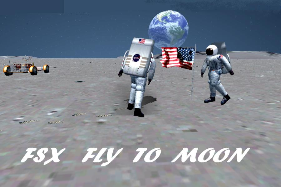 RDJ SIMULATION - FSX FLY TO MOON