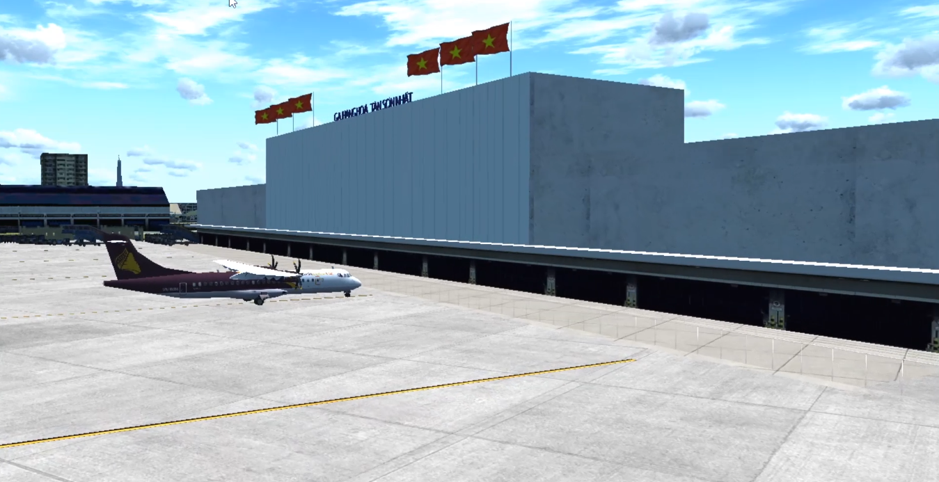 VIET SIM SCENERY - TAN SON NHAT INTERNATIONAL AIRPORT NEW EXPANDED FSX P3D1-4