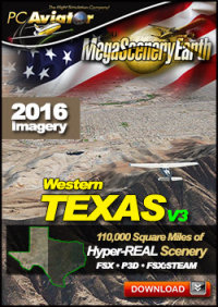 MEGASCENERYEARTH - PC AVIATOR - MEGASCENERY EARTH V3 - TEXAS WEST FSX P3D