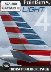 PAINTSIM - UHD TEXTURE PACK 4 LIGHT FOR CAPTAIN SIM BOEING 757-200 III P3D V4