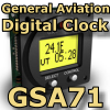 FI - GSA71 - GENERAL AVIATION DIGITAL CLOCK