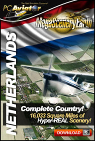 PC AVIATOR - MEGASCENERY EARTH - NETHERLANDS FSX P3D