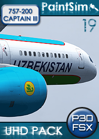 PAINTSIM - UHD TEXTURE PACK 19 FOR CAPTAIN SIM BOEING 757-200 III FSX P3D