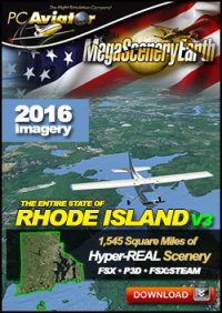 MEGASCENERYEARTH - PC AVIATOR - MEGASCENERY EARTH V3 - RHODE ISLAND FSX P3D