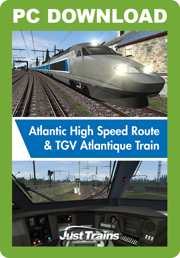 JUSTTRAINS - ATLANTIC HIGH SPEED ROUTE & TGV ATLANTIQUE TRAIN