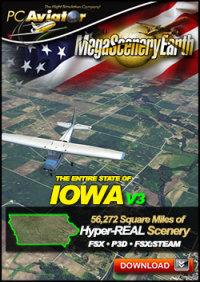 PC AVIATOR - MEGASCENERY EARTH V3 - IOWA FSX P3D
