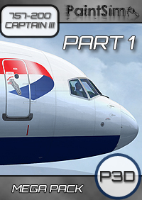 PAINTSIM - UHD MEGA TEXTURE PACK (PART 1) FOR CAPTAIN SIM BOEING 757-200 III P3D V4