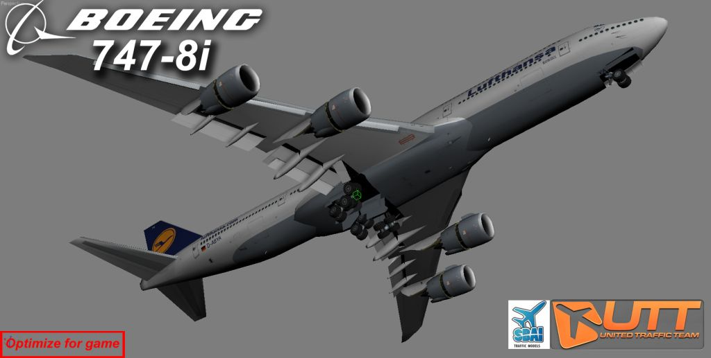 UTT - BOEING 747-8I FREIGHTER SOURCE MODEL FOR 3DS MAX