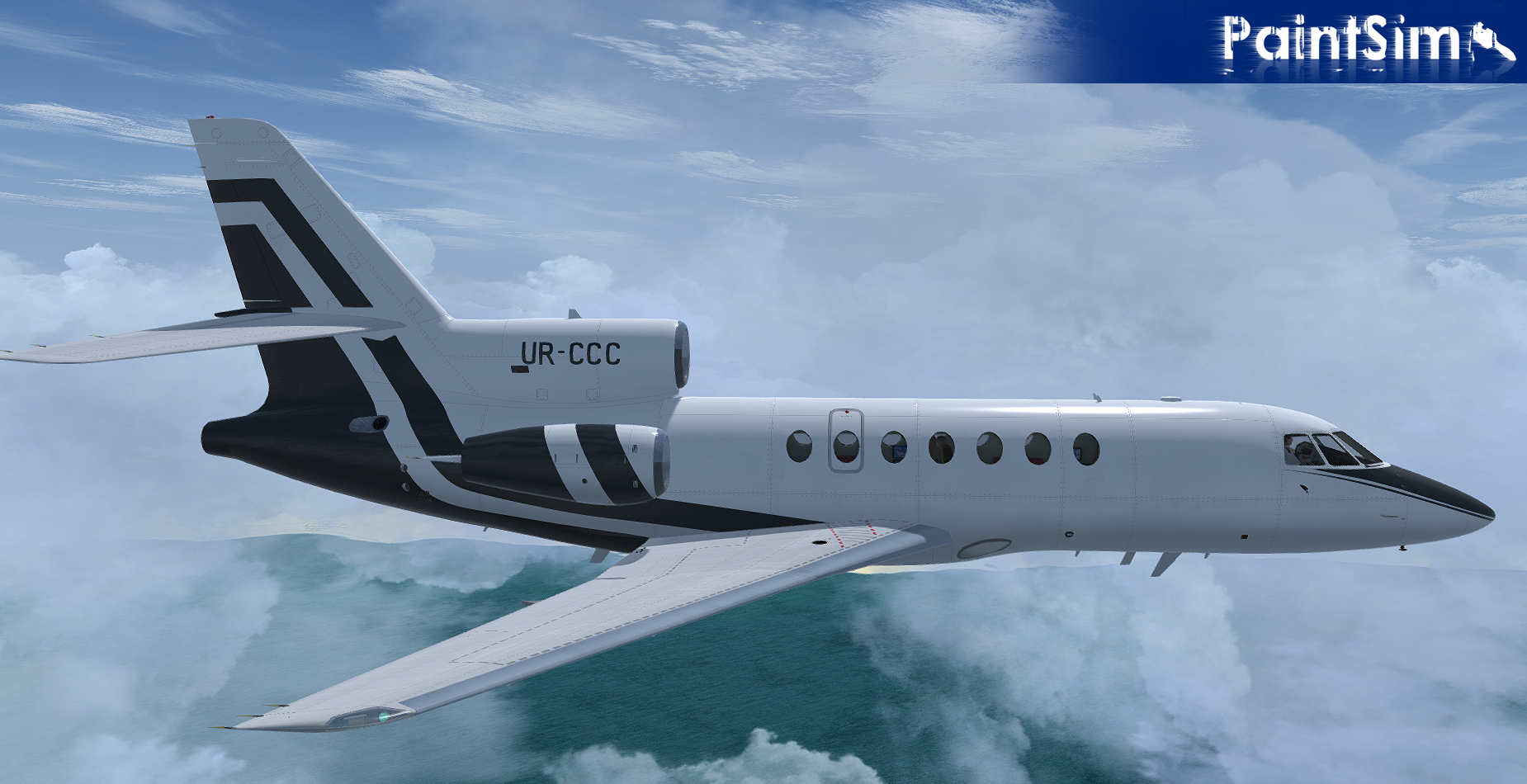 PAINTSIM - UHD TEXTURE PACK 3 FOR FLYSIMWARE FALCON 50 FSX P3D