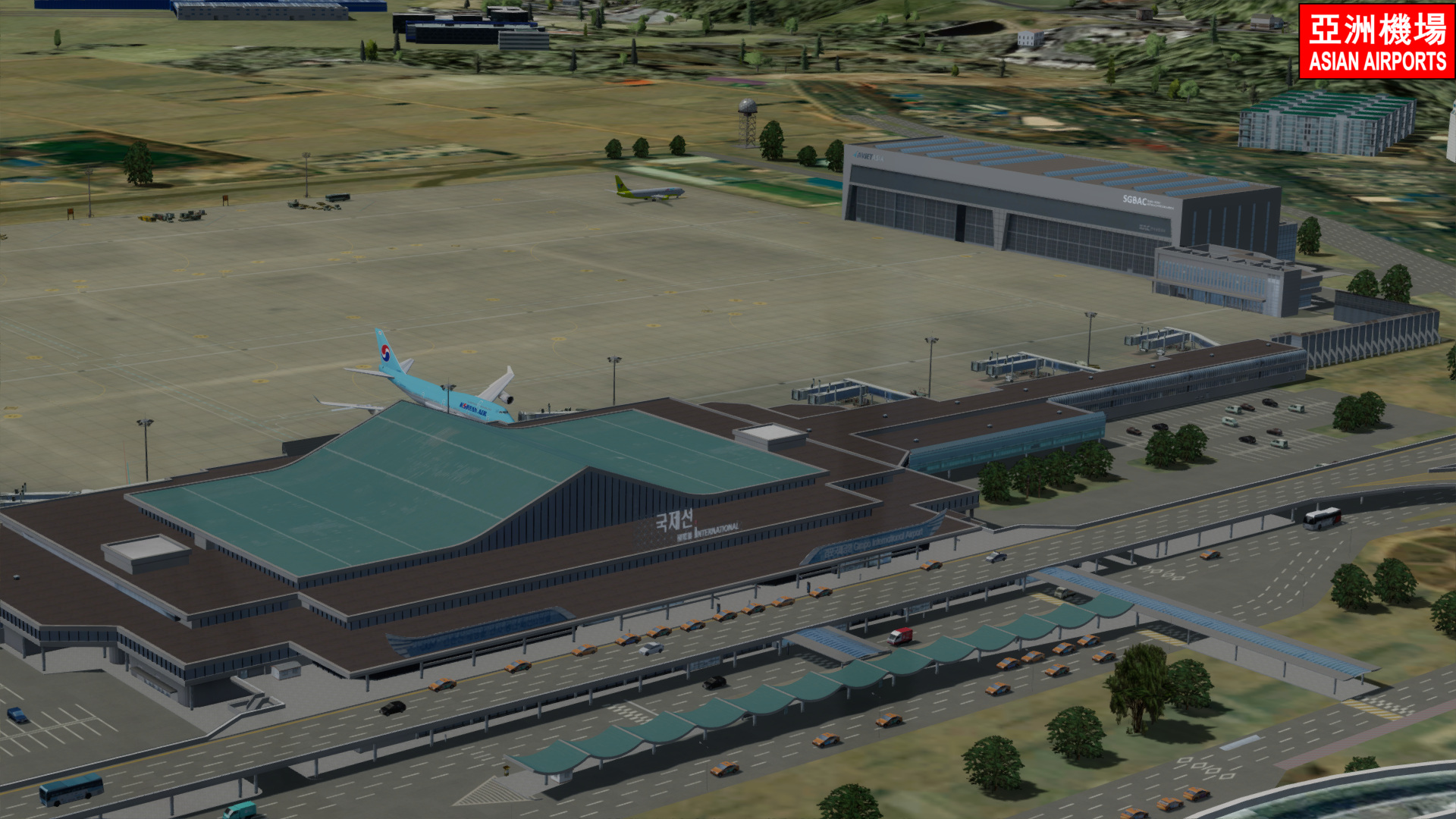 ASIAN AIRPORTS - SEOUL GIMPO RKSS P3DV5