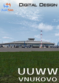JUSTSIM - UUWW MOSCOW VNUKOVO INTERNATIONAL AIRPORT P3DV4