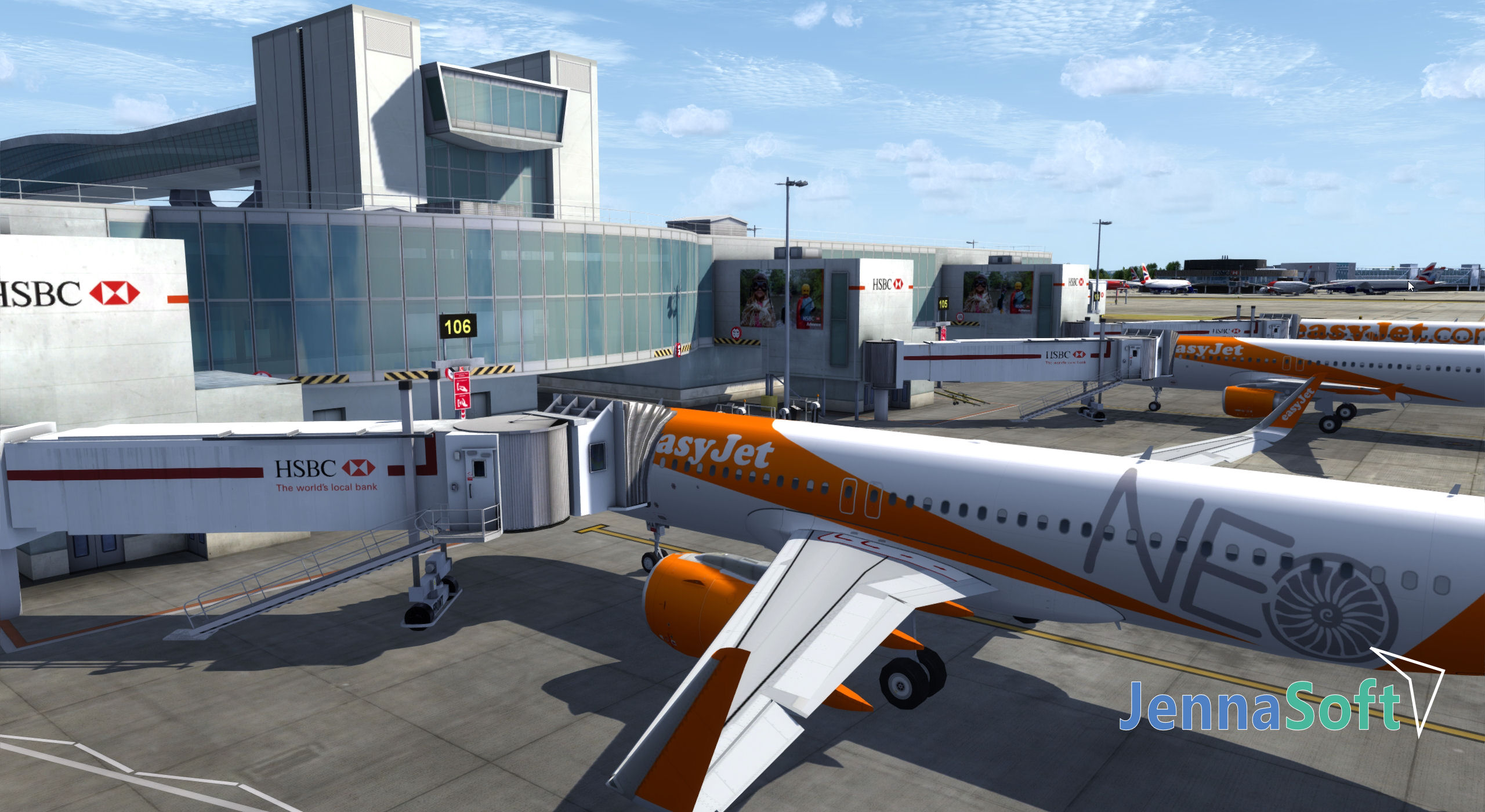 JENNASOFT - LONDON GATWICK P3DV4 AND FSX