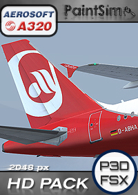 PAINTSIM - HD TEXTURE PACK 1 FOR AEROSOFT AIRBUS A320 FSX P3D