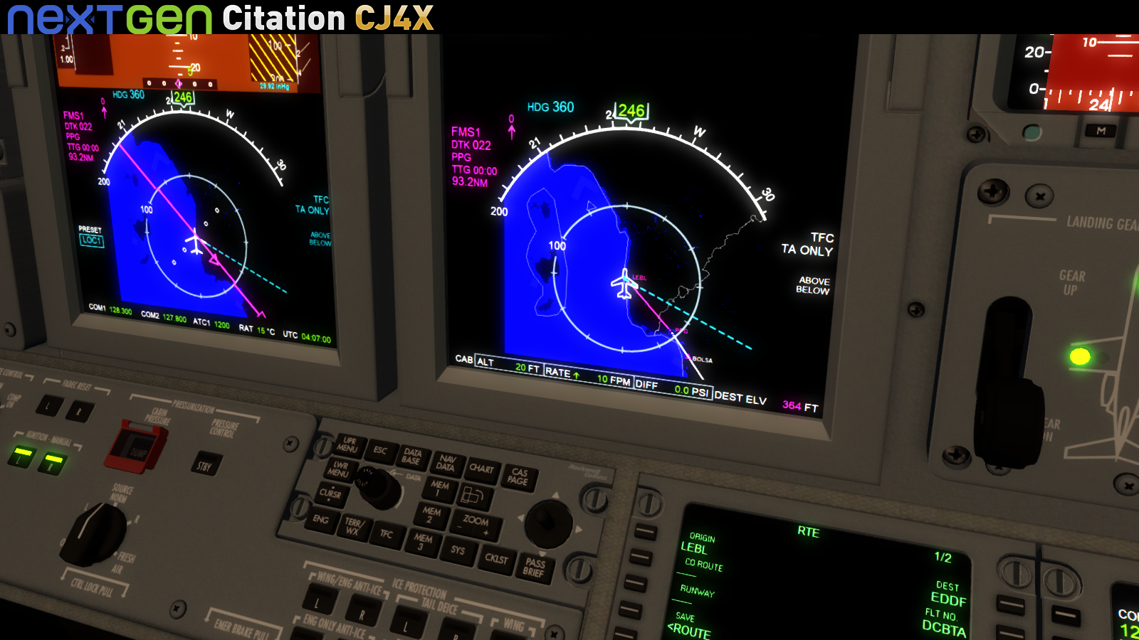 NEXTGEN SIMULATIONS - CITATION CJ4X FSX P3D