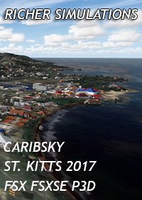 RICHER SIMULATIONS - CARIBSKY  ST. KITTS 2017 FSX FSXSE P3D