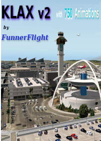 FUNNERFLIGHT - FUNNER FLIGHT - KLAX V2 WITH 750 ANIMATIONS X-PLANE 10/11