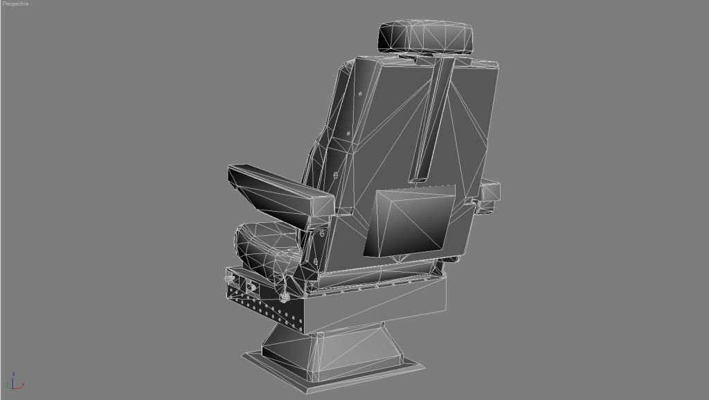 UTT - CAPTAIN SEAT KC-10 DOUGLAS SOURCE MODEL FOR 3DS MAX