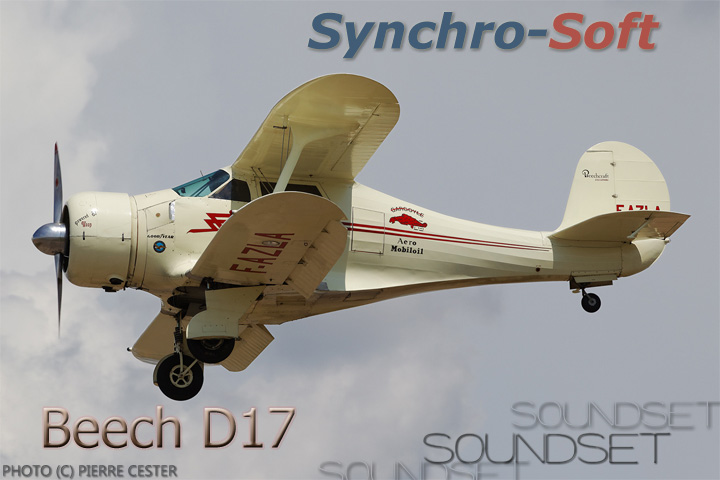 SYNCHRO-SOFT - BEECHCRAFT D17 STAGGERWING SOUNDSET FSX