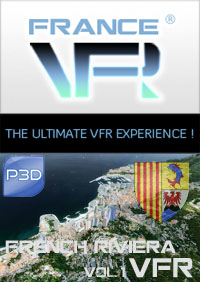 FRANCE VFR - FRENCH RIVIERA VFR 3DA VOL.1 P3D V5/V4