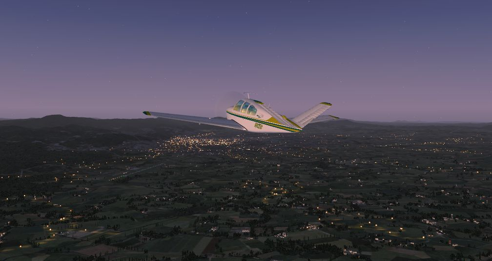 TABURET - FSX P3D NIGHT 3D BULGARIA ROMANIA