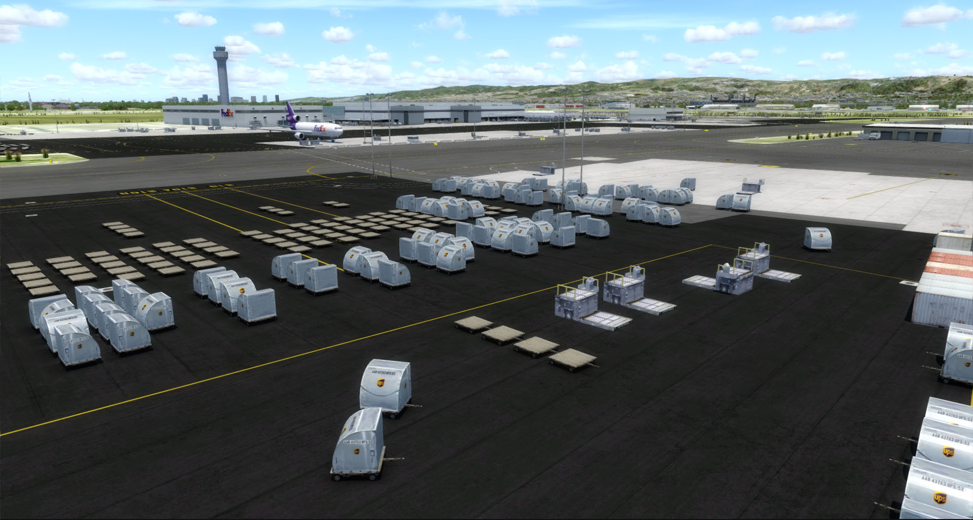 CLOUDBERRY SIM - OAKLAND INTERNATIONAL AIRPORT P3D