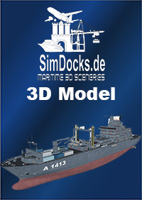 "SIMDOCKS.DE - 3D MODEL GERMAN TASK FORCE SUPPLIER ""BONN"""