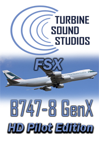 TURBINE SOUND STUDIOS - BOEING 747-8i GENX HD PILOT EDITION SOUNDPACK FOR FSX