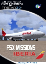 PERFECT FLIGHT - FSX MISSIONS - IBERIA BOEING 747-400 FSX P3D