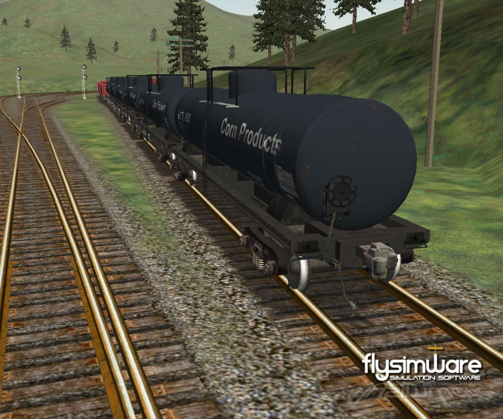 FLYSIMWARE - TANKER RAILCAR SET FOR MSTS