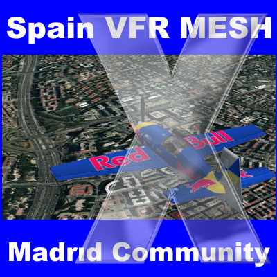 FSSIMVFR - SPAIN VFR MESH - MADRID COMMUNITY FSX
