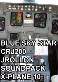 BLUE SKY STAR - CRJ200 JROLLON SOUNDPACK X-PLANE 10