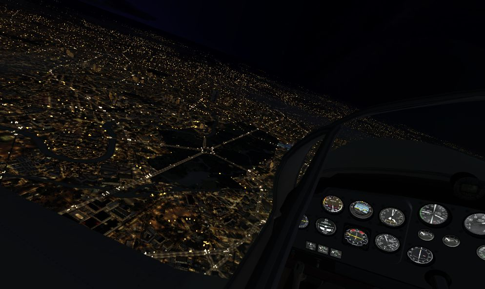 TABURET - FSX P3D NIGHT 3D GERMANY DENMARK