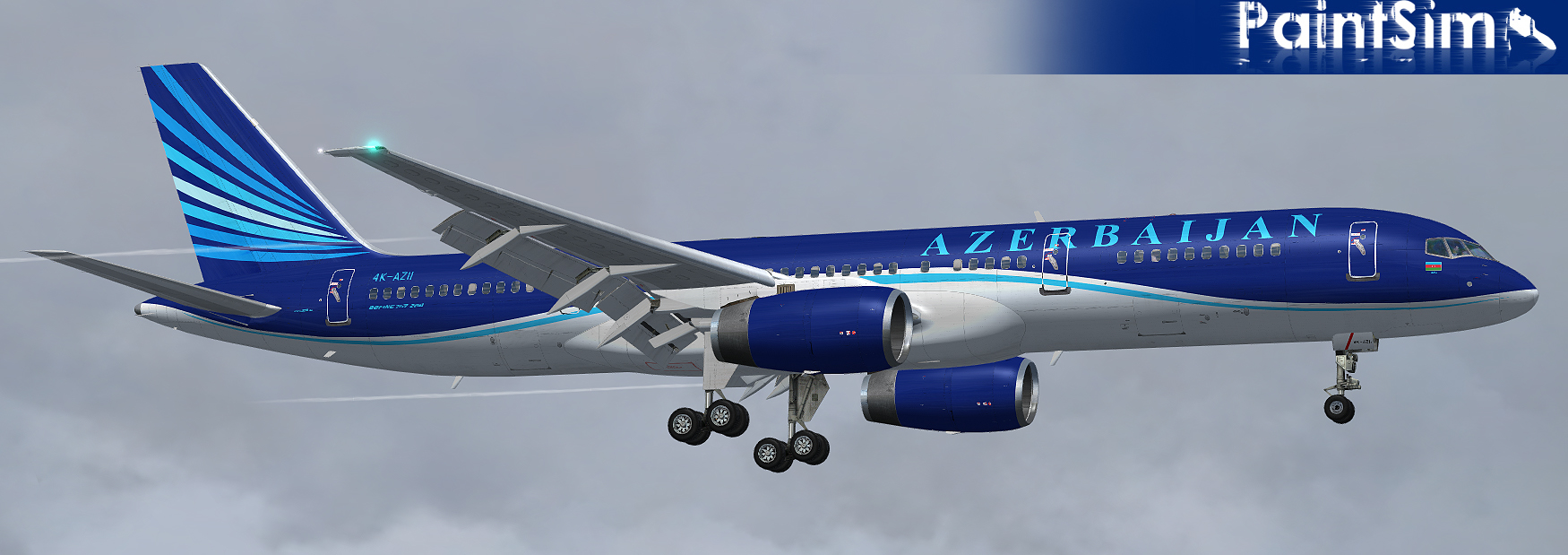 PAINTSIM - UHD TEXTURE PACK 1 FOR CAPTAIN SIM BOEING 757-200 FSX