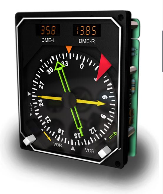 FI - GSA-RMI-DME - RADIO MAGNETIC INDICATOR W DISTANCE MEASURING