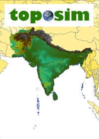 TOPOSIM - CONTINENTS - SOUTH ASIA