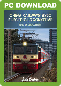 JUSTTRAINS - CHINA RAILWAYS SS7C ELECTRIC LOCOMOTIVE + CHENGYU PART 2 ROUTE AND ROLLING STOCK PACK