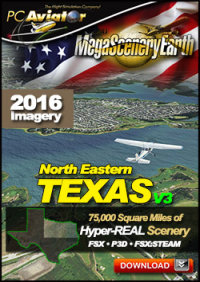MEGASCENERYEARTH - PC AVIATOR - MEGASCENERY EARTH V3 - TEXAS NORTH EAST FSX P3D