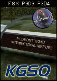 FSXCENERY - KGSO PIEDMONT TRIAD INTERNATIONAL AIRPORT FSX P3D