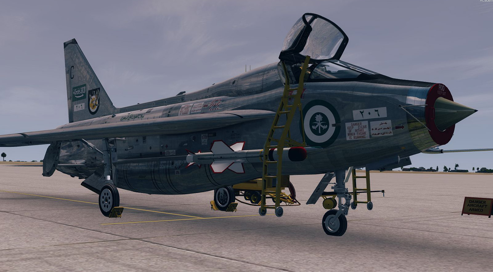 AEROSOFT - ENGLISH ELECTRIC LIGHTNING T5 FSX P3D