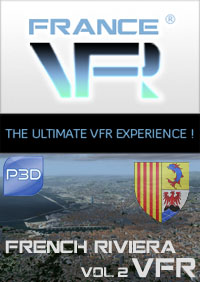 FRANCE VFR - FRENCH RIVIERA VFR 3DA VOL.2 P3D V5/V4