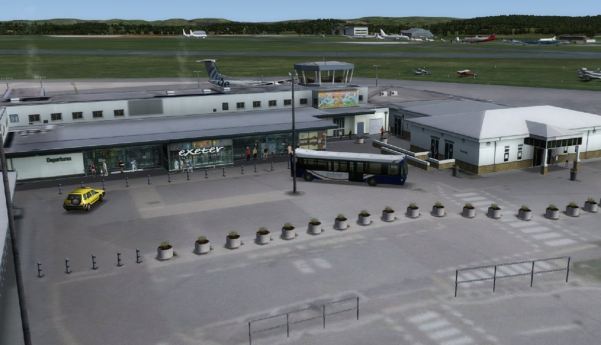 UK2000 SCENERY - EXETER XTREME EGTE FSX P3D FS2004