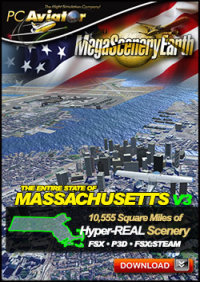 MEGASCENERYEARTH - PC AVIATOR - MEGASCENERY EARTH V3 - MASSACHUSETTS FSX P3D